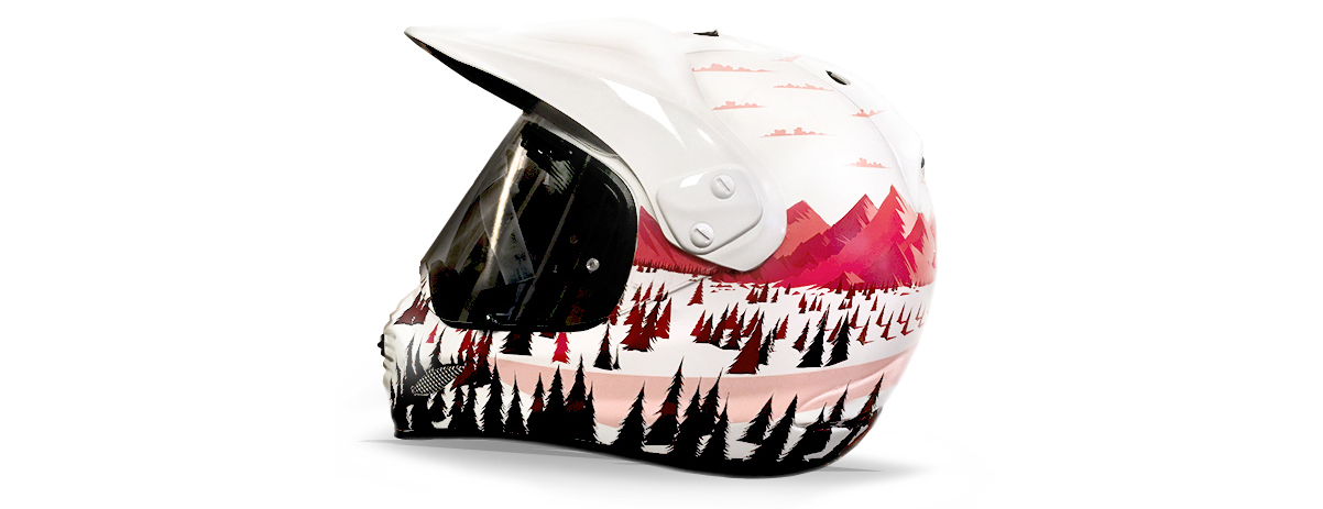 Honda Helmet design inspired by the Honda X-ADV