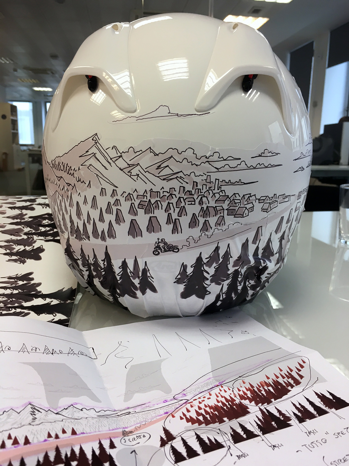 Helmet Illustration sketches