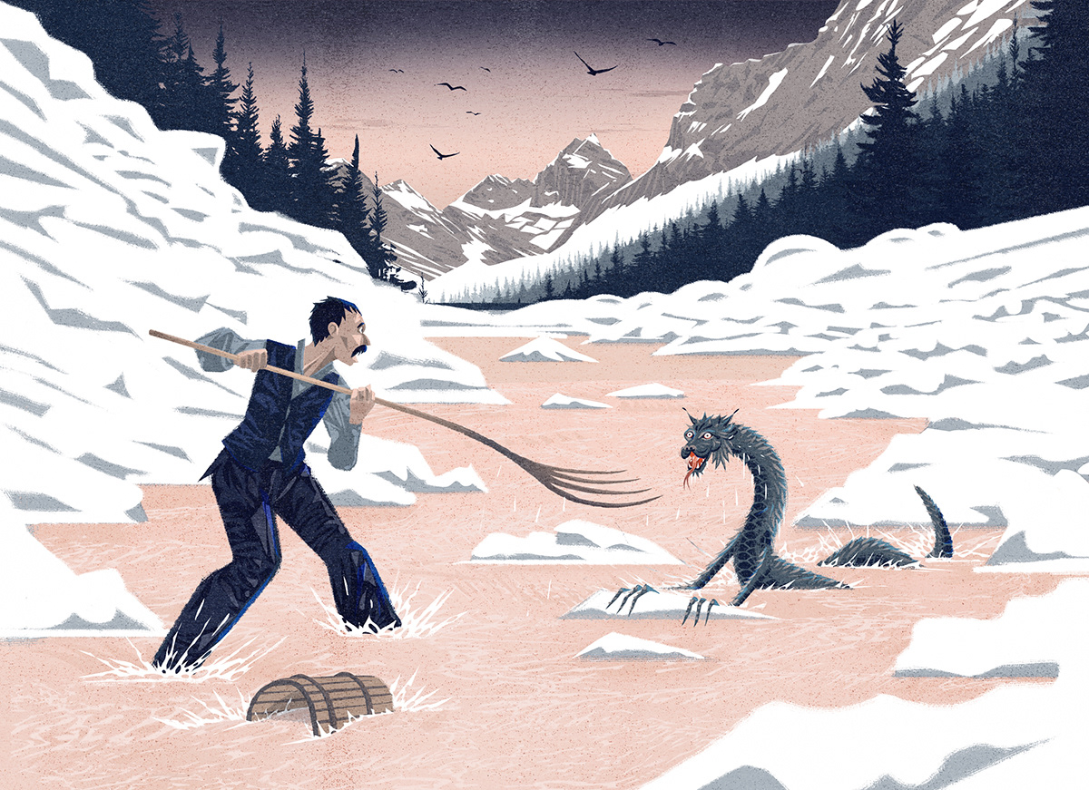 The Tatzelwurm of the Alps: a lizard-like creature, often described as having the face of a cat, with a serpent-like body which may be slender or stubby, with four short legs or two forelegs.