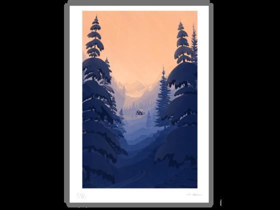 Limited edition print: Ski
